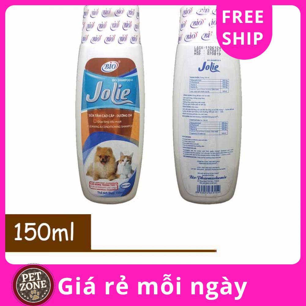 🐶🐱 Dầu tắm sữa tắm dưỡng lông dưỡng da cho chó mèo Bio Jolie 150ml - 500ml
