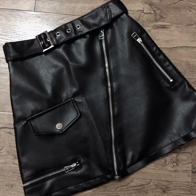 Chân váy da ( ảnh thật shop tự chụp)