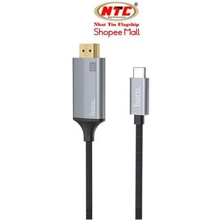 Cáp chuyển đổi TypeC sang HDMI Hoco UA13 vỏ hợp kim nhôm, hỗ trợ 4K, dài 1.8M (Xám) - Hãng phân phối