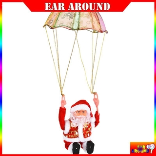 Details about Creative Electric Parachute Santa Claus Plush Doll Funny Christmas Toy Gift for eararound