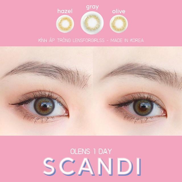 Kính áp tròng 1 ngày Scandi Gray của Olens (Hsd 1 ngày)