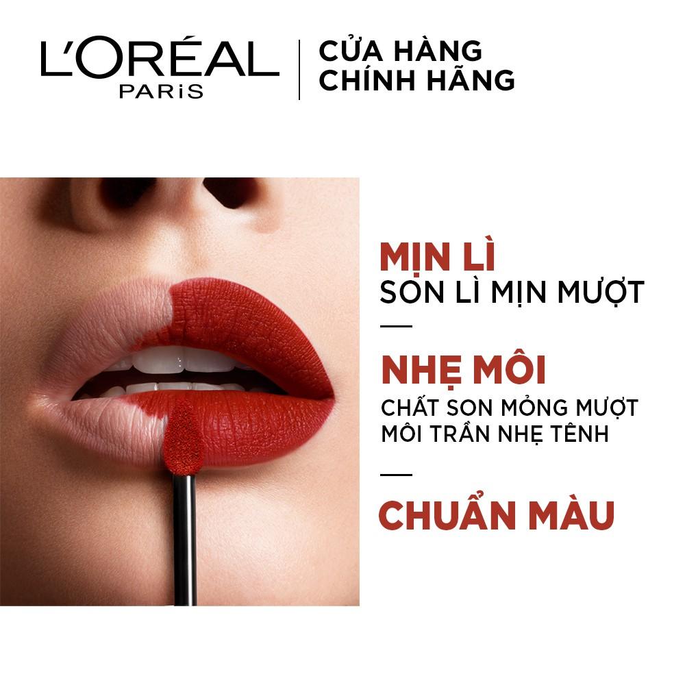 [MÃ COSMALL30 -10% ĐH250k]Son kem lì nhẹ môi cao cấp Rouge Signature L'Oreal Paris 7ml