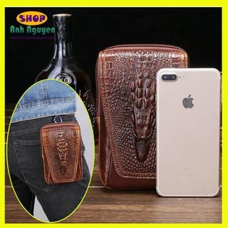 Túi đựng điện thoại đeo hong da bò