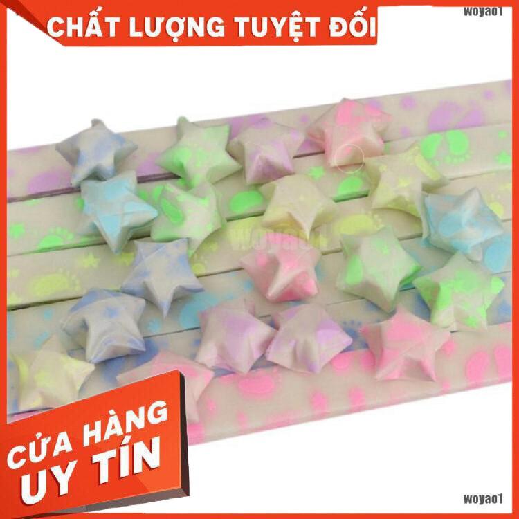 Set 30 giấy ruy băng gấp ngôi sao may mắn nghệ thuật Origami – Hàng nhập khẩu