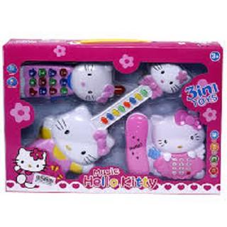 Đàn hello kitty cao cấp, đồ chơi đàn
