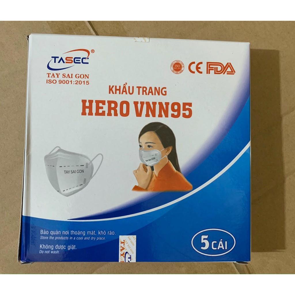 KHẨU TRANG KHÁNG KHUẨN 5 LỚP HERO VNN95 - Hộp 5 cái   Shopee Việt Nam