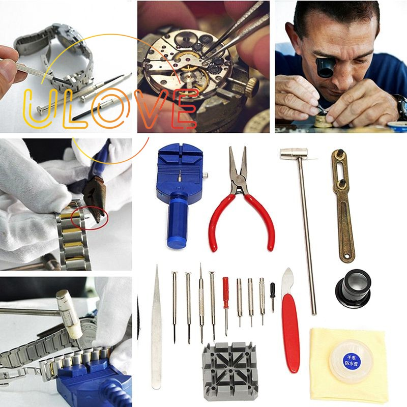 Watch Band Case Remover Opener Holder Wrench Screwdriver Repair Tool