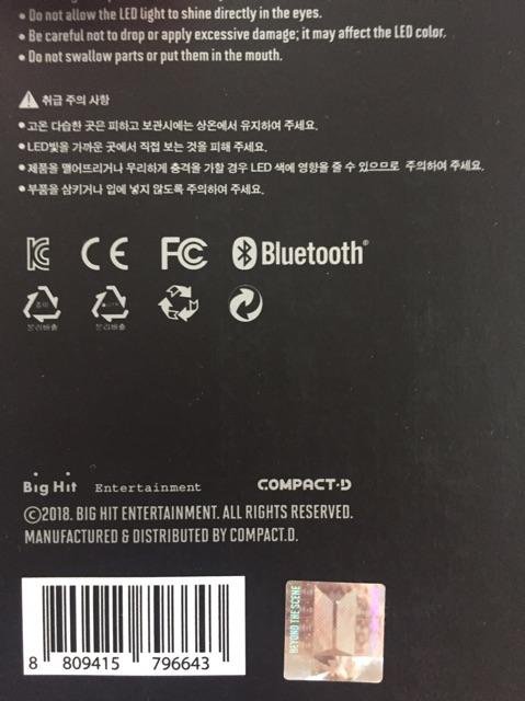 Bomb ver 3- BTS official lightstick
