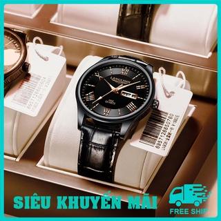 Đồng hồ nam dây da langlishi chống nước bản 3 mặt đồng hồ, DH03A - Lucas shop