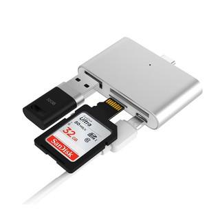 [Mã ELFLASH5 giảm 20K đơn 50K] Đầu đọc thẻ nhớ Type c đọc thẻ SD,TF,USB đa năng 4 trong 1 vỏ nhôm cao cấp