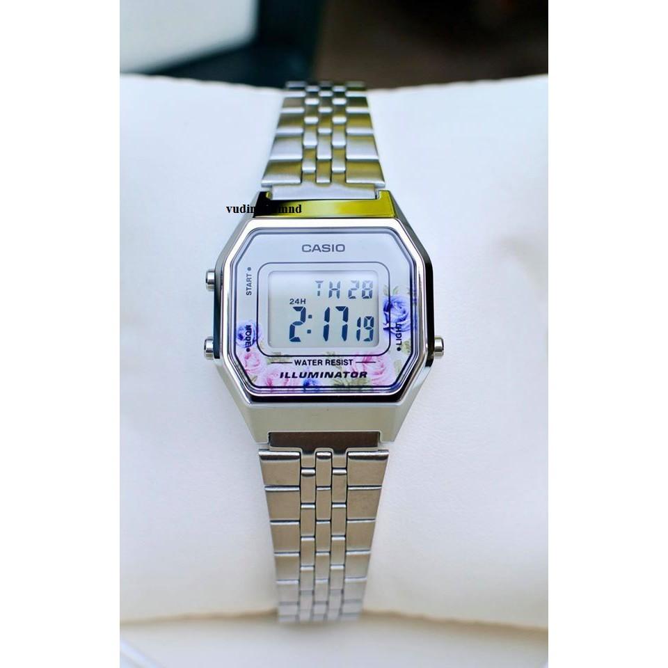 Đồng hồ Casio Nữ Vintage LA680WA-4C chính hãng, giá rẻ, Thay Pin Trọn Đời - Bảo hành chính hãng 5 năm - full box + thẻ.