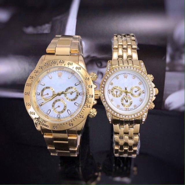 Đồng hồ cặp nam nữ Roxler Q101369 mặt nhiều kim phong cách