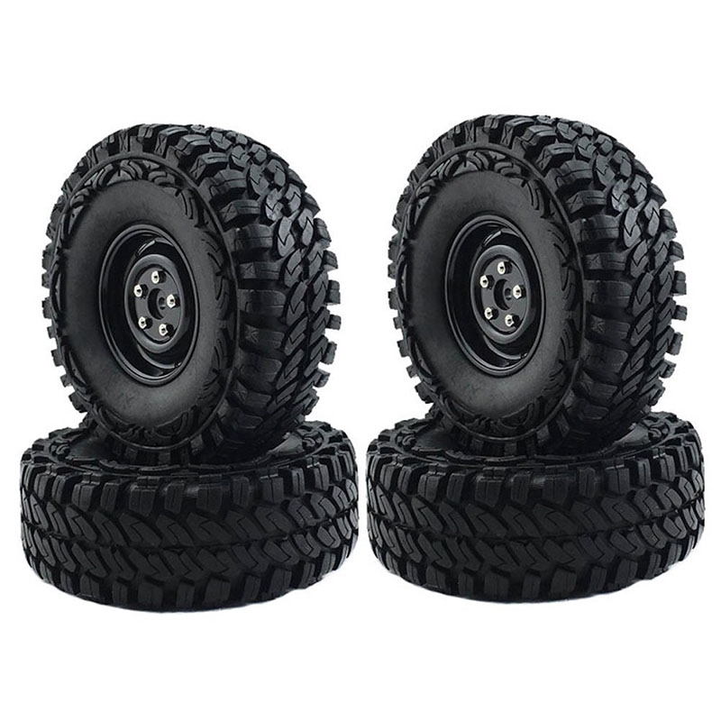 """☽2Pcs 1.9"""" Tire Tyres Rubber Tyre for 1/10 RC Crawler Car RC4WD SCX10"""