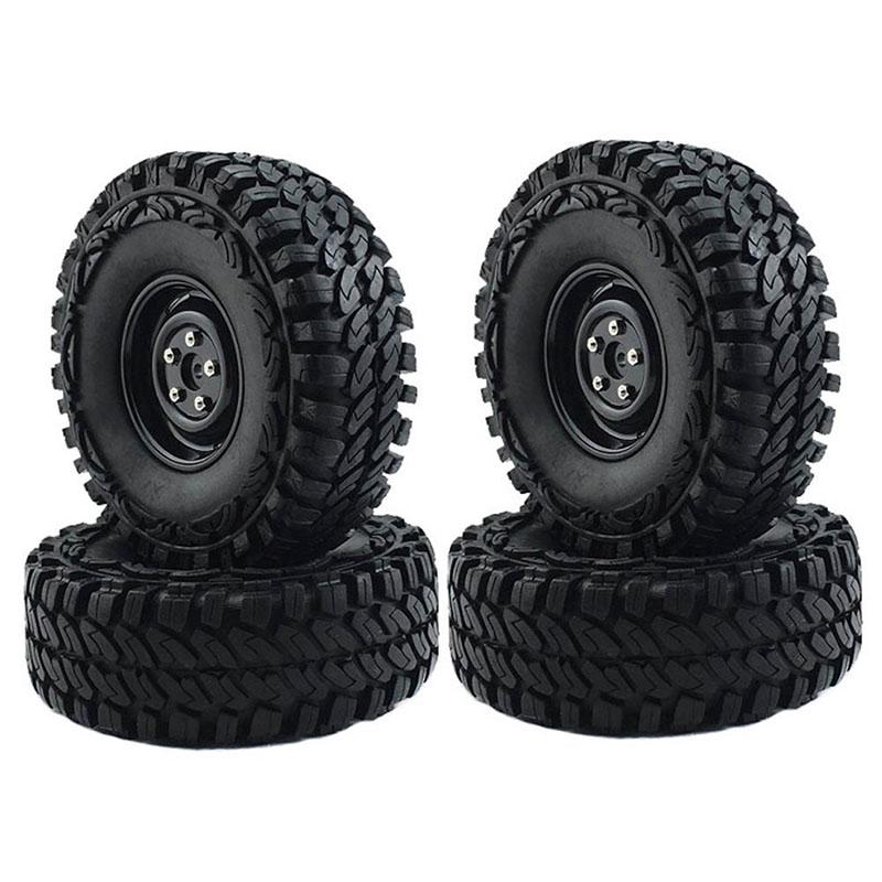 "☽2Pcs 1.9"" Tire Tyres Rubber Tyre for 1/10 RC Crawler Car RC4WD SCX10"