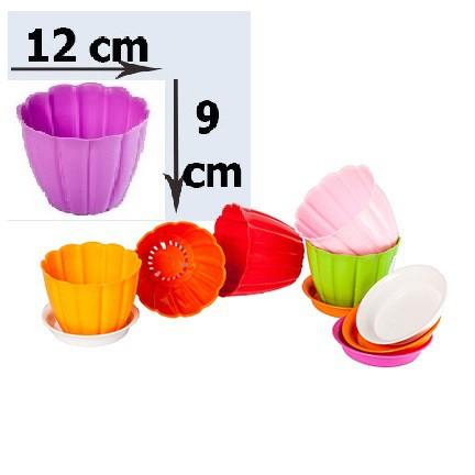 Chậu hoa nhựa để bàn - chậu nhựa để bàn kiểu (không kèm đĩa)