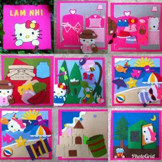 Sách vải chủ đề Picnic cùng chú mèo Hello Kitty
