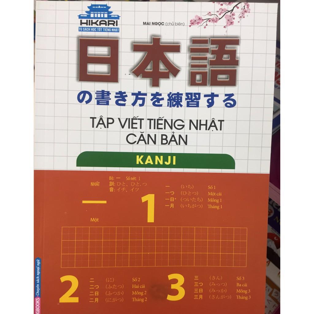 Sách - Tập viết tiếng Nhật căn bản - Kanji