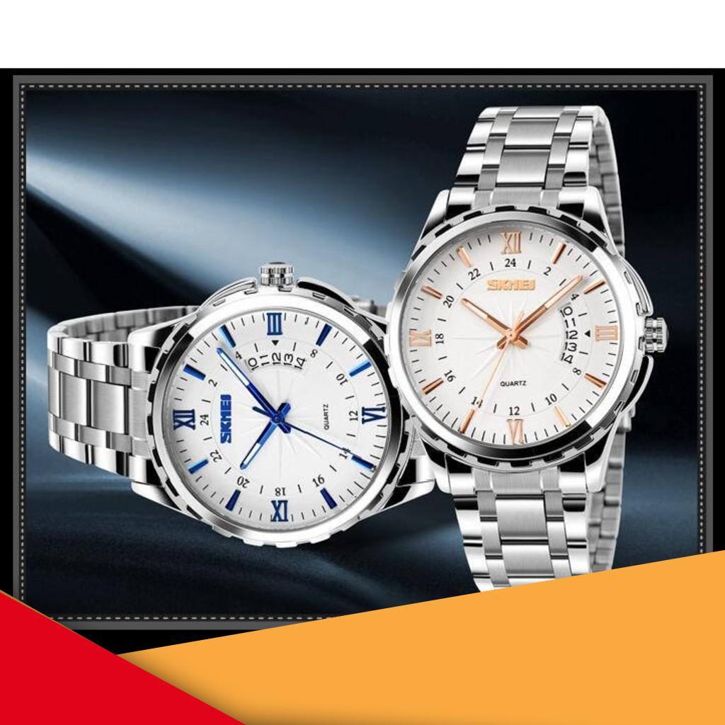 [Sale khủng] Đồng hồ nam SKMEI cao cấp dây thép không gỉ SME14 đẳng cấp quý ông - Đồng Hồ Quốc Tế