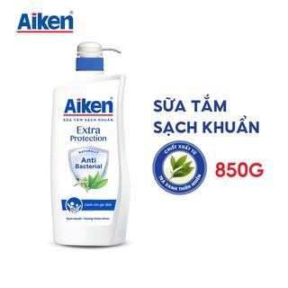 [Mã AIKE20149 giảm 20K đơn 149K] Aiken Sữa tắm Sạch khuẩn Chiết Xuất Trà Xanh Thiên Nhiên 850g thumbnail