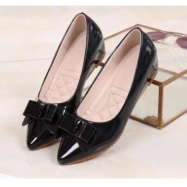 (ORDER SALE) Giày đế xuồng size nhỏ nơ 2 lớp