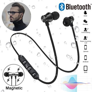 PDD Wireless Bluetooth 4.2 Magnetic / Premium Stereo Bluetooth In-Ear Headset