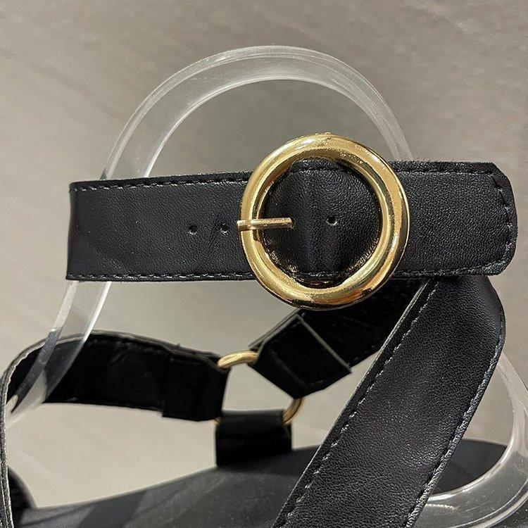 Giày Sandal Cao Gót Mũi Tròn Thời Trang Dành Cho Nữ