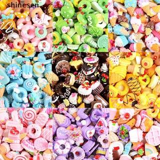 Bộ 10 Phụ Kiện Trang Trí Ốp Lưng Điện Thoại Hình Bánh Kẹo