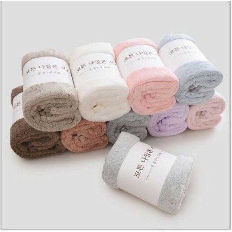 Combo 10 khăn lông cừu xuất Hàn