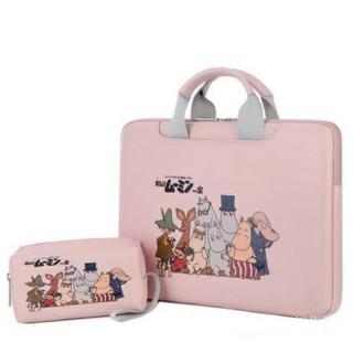 Cặp đựng laptop, macbook Da PU AGOSTO da mềm, có đai gài hành lý