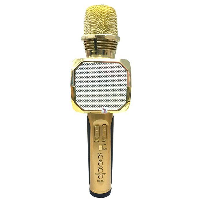 Micro Kèm Loa Bluetooth Karaoke SD-10 (Vàng)