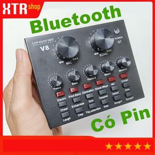 Vang Mini Karaoke, Kết Hợp Của Vang Cơ Và Vang Số, Sound Card V8 Karaoke, Thu Âm, Livestream, Có Bluetooth, Bản Quốc Tế thumbnail
