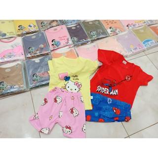 Bộ cộc tay cotton xuất Hàn QiQi hàng Quảng Châu loại 1 cho bé trai bé gái từ 7-37kg