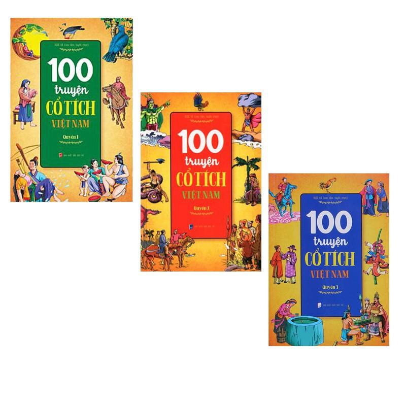 Sách - Combo 3 Quyển Sách 100 Truyện Cổ Tích Việt Nam Cho Bé