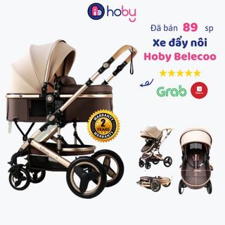 Xe đẩy cho bé Hoby Belecoo V1.6 2 chiều 3 tư thế nôi nằm cao cấp có mái che gấp gọn giảm sóc cho bé từ sơ sinh, BH 2 năm thumbnail