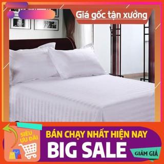 [XEM NGAY] Sale sốc Bộ drap sọc cho khách sạn size:1m4 x 2m nệm cao từ 5cm – 15cm) giá sỉ