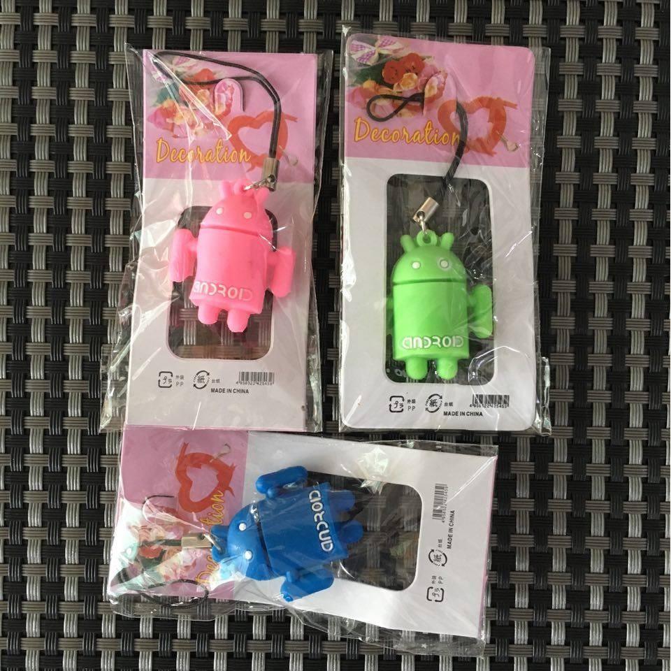 Bộ 3 móc khóa Android