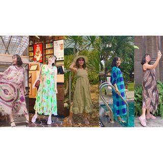 [100% Ảnh thật] Váy đầm bầu cho mẹ bầu thích đi du lịch