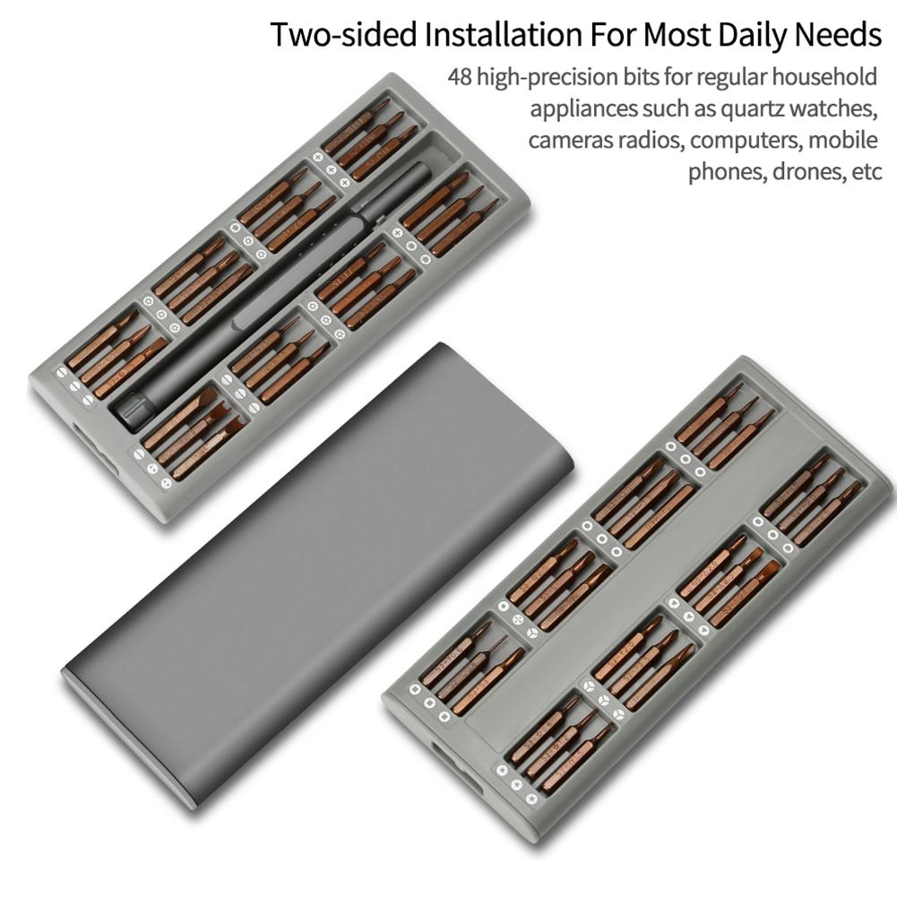 48 In 1 Magnetic Bits Multifunctional Maintenance Aluminium Alloy Computer Opening Tool Professional Screwdriver Kit