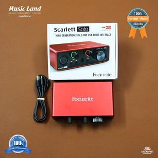 Sound Card Âm Thanh Focusrite Solo (3rd Gen) – Chính hãng