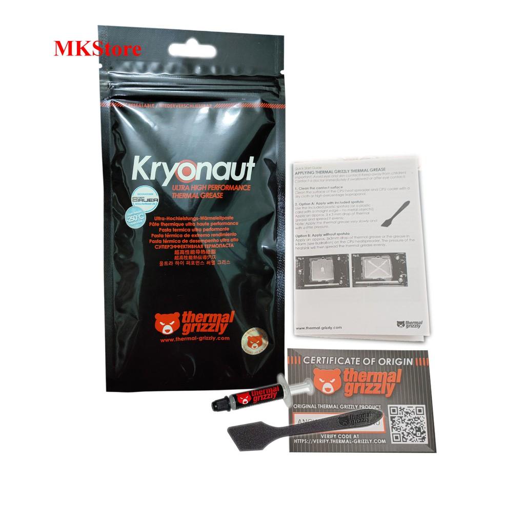 Keo tản nhiệt PC Thermal Grizzly Kryonaut 1g
