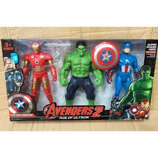Bộ đồ chơi mô hình 3 siêu anh hùng có đèn