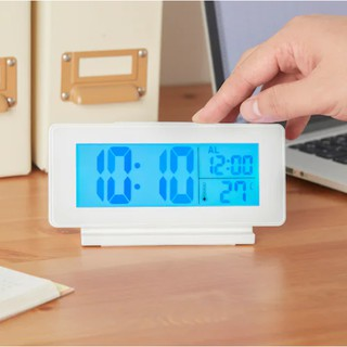 Đồng hồ hẹn giờ để bàn nhiệt kế/báo thức màu trắng FILMIS IKEA