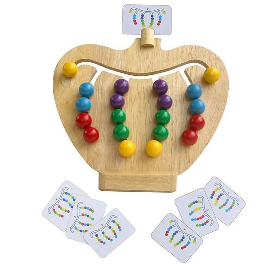 Đồ chơi gỗ Winwintoys - Trái táo tìm đường, Đồ chơi thông minh cho bé học cách nhận biết màu và tăng tư duy