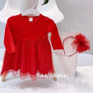 Váy đỏ cho bé gái siêu xinh