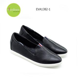 Giày Slipon Đế Độn Da Tổng Hợp 3cm Evashoes - Eva1382-1 (Màu Đen, Trắng) thumbnail