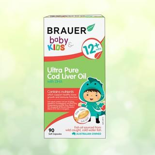 DHA siêu tinh khiết từ dầu gan cá tuyết Brauer cho trẻ trên 1 tuổi (90 viên)