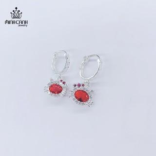 Bông Tai Hình Con Mèo Cho Bé Gái Bạc Ta - Minh Canh Jewelry