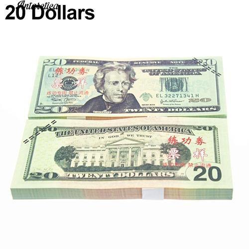 Set 100 tiền giấy đồ chơi nhiều kích thước cho trẻ