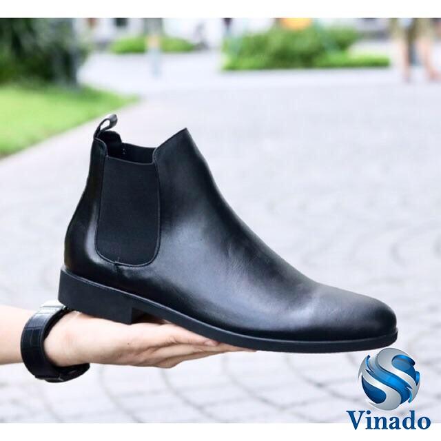 Giày Thời Trang Nam Chelsea Boots Tăng Chiều Cao Cổ Lửng Đẳng Cấp BT28 Cao Cấp