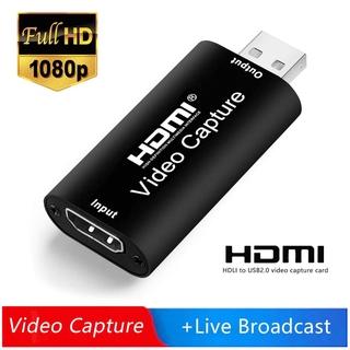 Mini Video Capture Card USB 2.0 HDMI Video Grabber cho PS4 Game DVD Máy quay phim HD Camera ghi lại Live Streaming